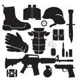 equipment soldier set vector image