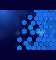Abstract hexagon technology concept background vector image