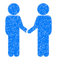 children handshake grunge icon vector image