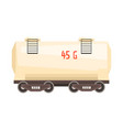 white railroad tank wagon colorful cartoon vector image