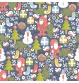 Funny Christmas pattern vector image