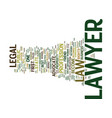 Lawyer text background word cloud concept vector image