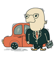Businessman and car vector image vector image