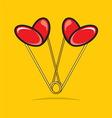 spajalica srce bojaG vector image
