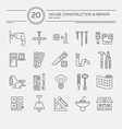 House Remodel Icons vector image