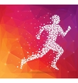 Abstract Creative concept image of running vector image