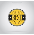 Best isolated badge label or sticker vector image