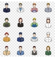 Profession set icons vector image