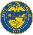 Oregon seal vector image vector image