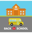 Back to school banner set School building with vector image