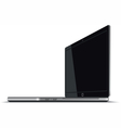 Laptop Right Side Horizontal View vector image