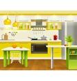 Modern Kitchen Interior Design vector image