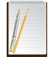 notebook pens vector image