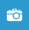 photo camera icon white on the blue background vector image