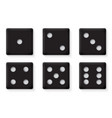 plastic black dices for casino vector image