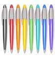 Realistic Color Pen Set vector image