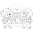 Schoolchildren going to school vector image