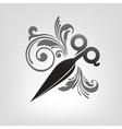 scissors stylization vector image