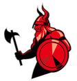 viking hold an axe vector image