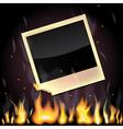 Burning photo vector image
