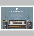 Interior design bedroom background 6 vector image