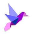 Vibrant colors Origami hummingbird vector image