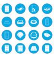 Stadium icon blue vector image