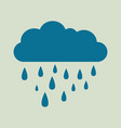 rain icon in trendy flat style isolated on yellow vector image