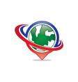 Global swoosh logo vector image