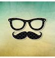 Vintage Hipster Poster vector image vector image