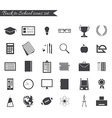 Back to school icons black and white vector image