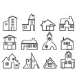 house outline icons vector image vector image