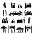Mechanic Icons Black vector image