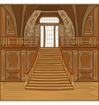 Interior of castle vector image