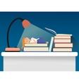 Girl sleeping on books vector image