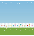 White picket fence Vector Image