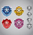 emblem logo football vector image vector image