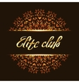 Elite club logo mandala vector image