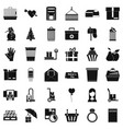 paper box icons set simple style vector image