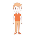 young little boy male character standing vector image