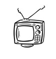 retro device - old tv vector image