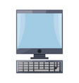 Isolated pc computer vector image