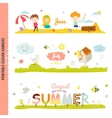 Cute Monthly Seasonally Backgrounds Banners vector image