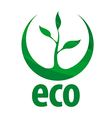 eco logo with green sprout vector image vector image