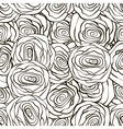 Beautiful black and white seamless pattern in vector image
