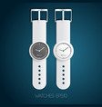 mechanical fashionable watches vector image