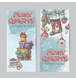 Set of vertical Christmas cards with flashlights vector image