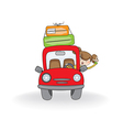 woman traveling by car vector image