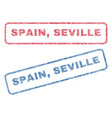 spain seville textile stamps vector image