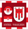 National ensigns of vorarlberg - austria vector image